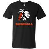 Men's V-Neck T-Shirt - Cambridge Baseball - Indian Logo