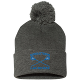 Pom Pom Knit Winter Hat - Middletown Girls Lacrosse - Sticks Logo