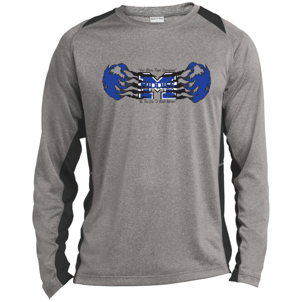 Heather Colorblock Long Sleeve T-Shirt - Middletown Unified Basketball