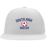 Flex Fit Twill Hat w/ Flat Bill - South Glens Falls Soccer