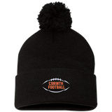 Pom Pom Knit Winter Hat - Corinth Football