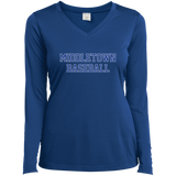 Women's Moisture Wicking Long Sleeve T-Shirt - Middletown Baseball