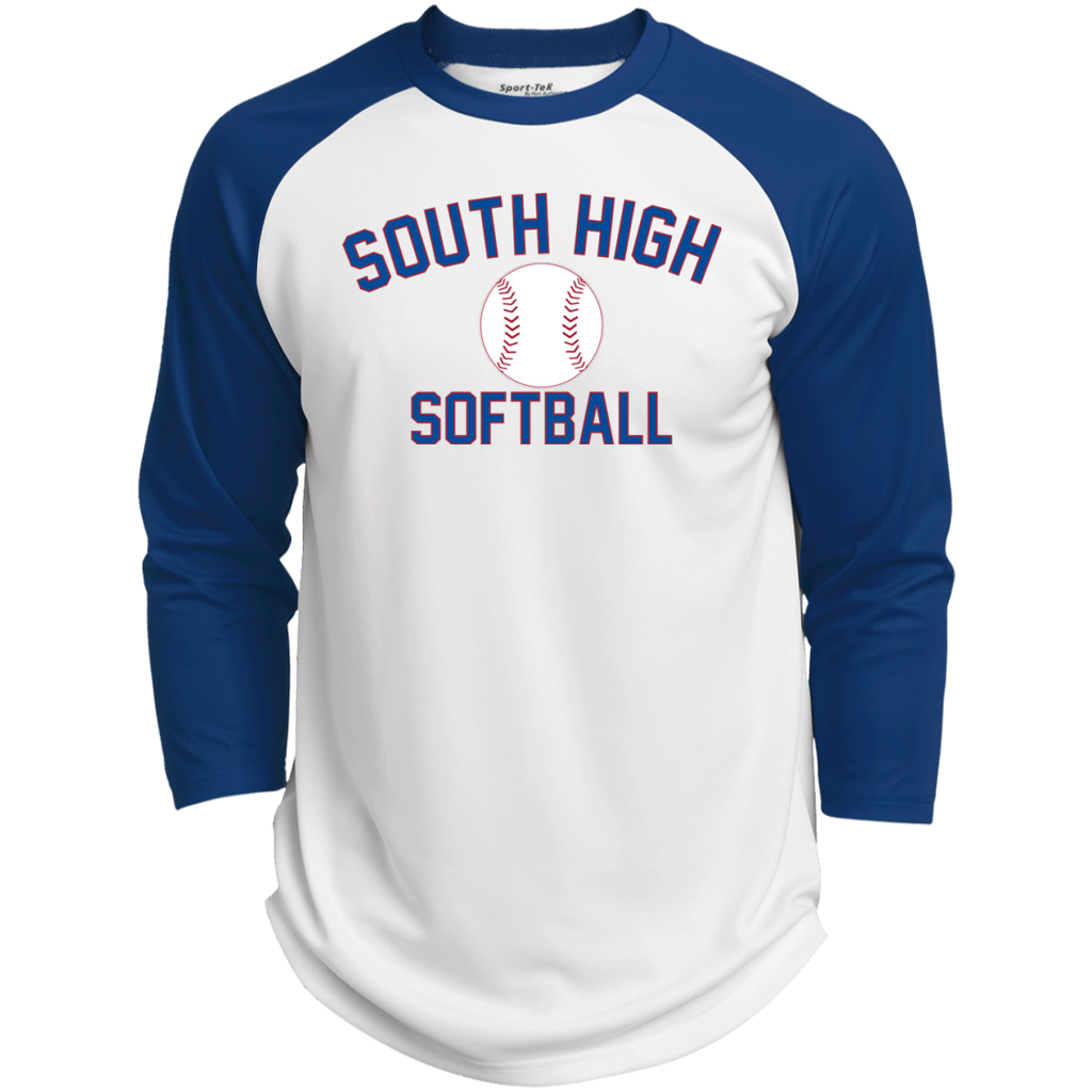 3/4 Sleeve Baseball T-Shirt - South Glens Falls Softball