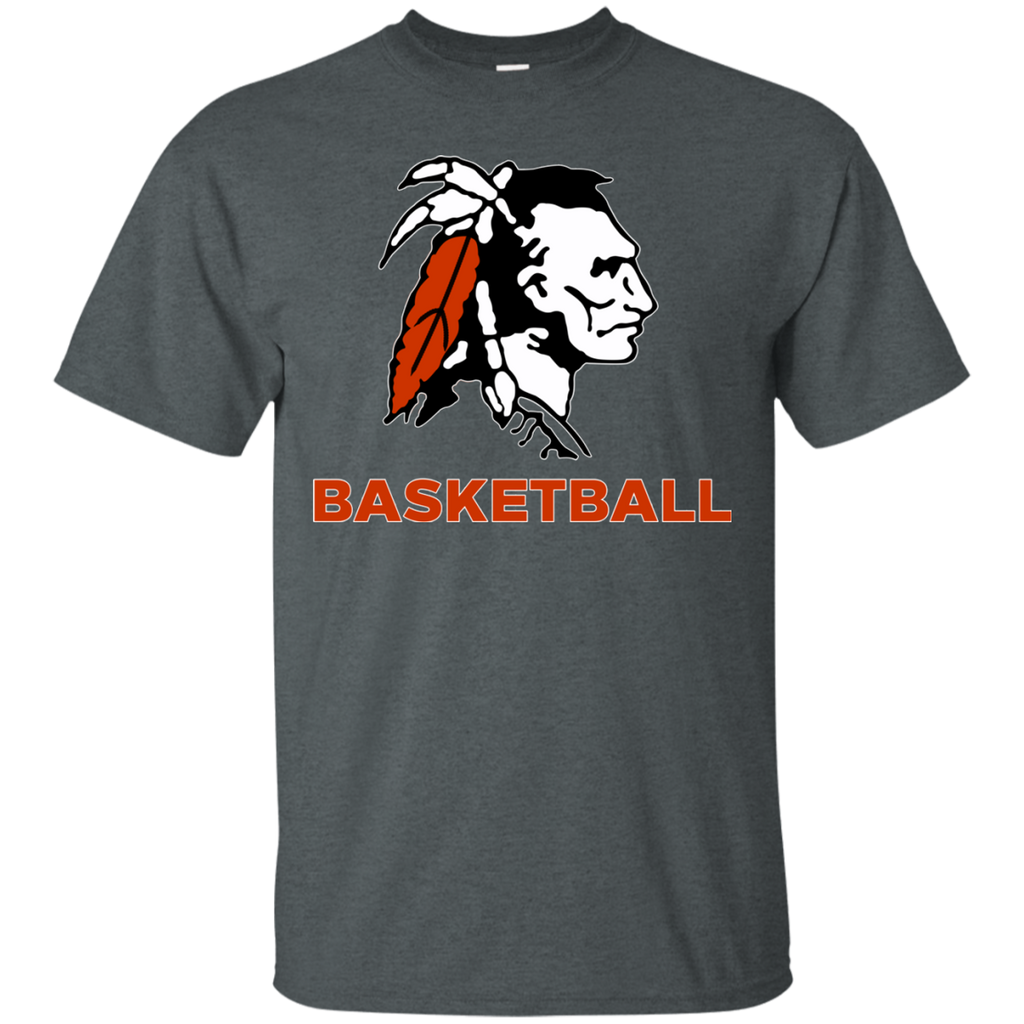 Men's Cotton T-Shirt - Cambridge Basketball - Indian Logo
