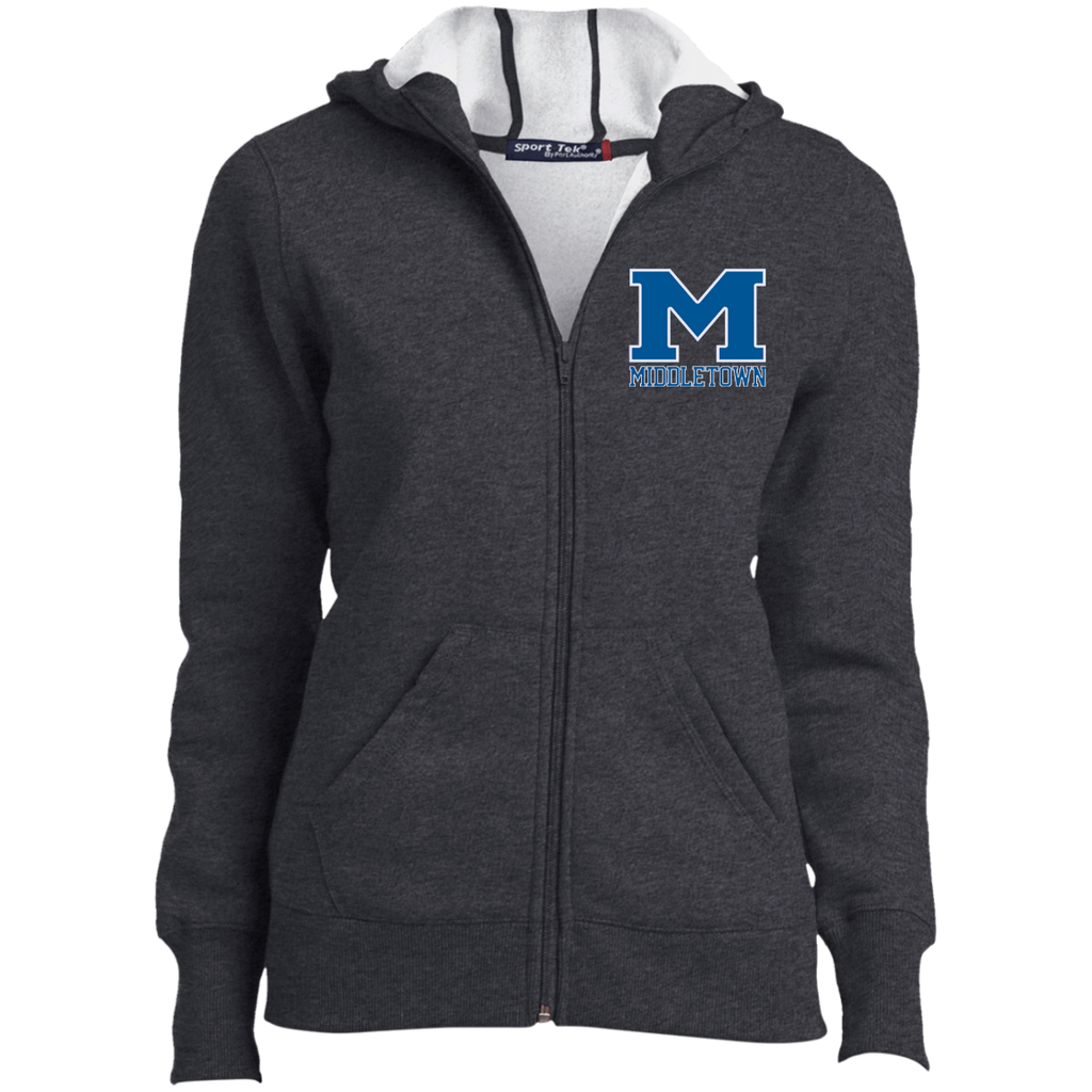 "Women's Full-Zip Hooded Sweatshirt - Middletown ""M"""
