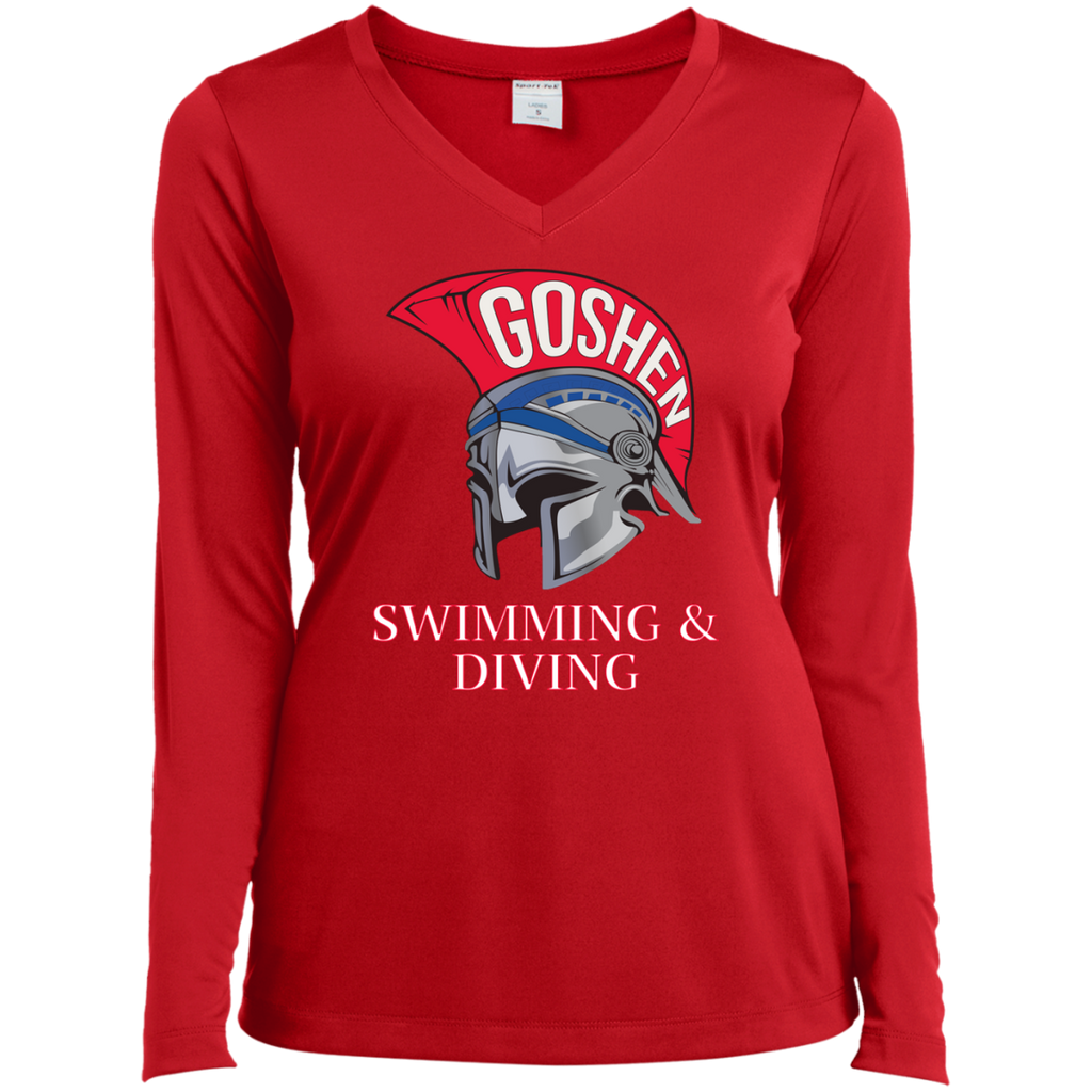 Women's Moisture Wicking Long Sleeve T-Shirt - Goshen Swimming & Diving