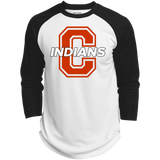 3/4 Sleeve Baseball T-Shirt - Cambridge Indians - C Logo