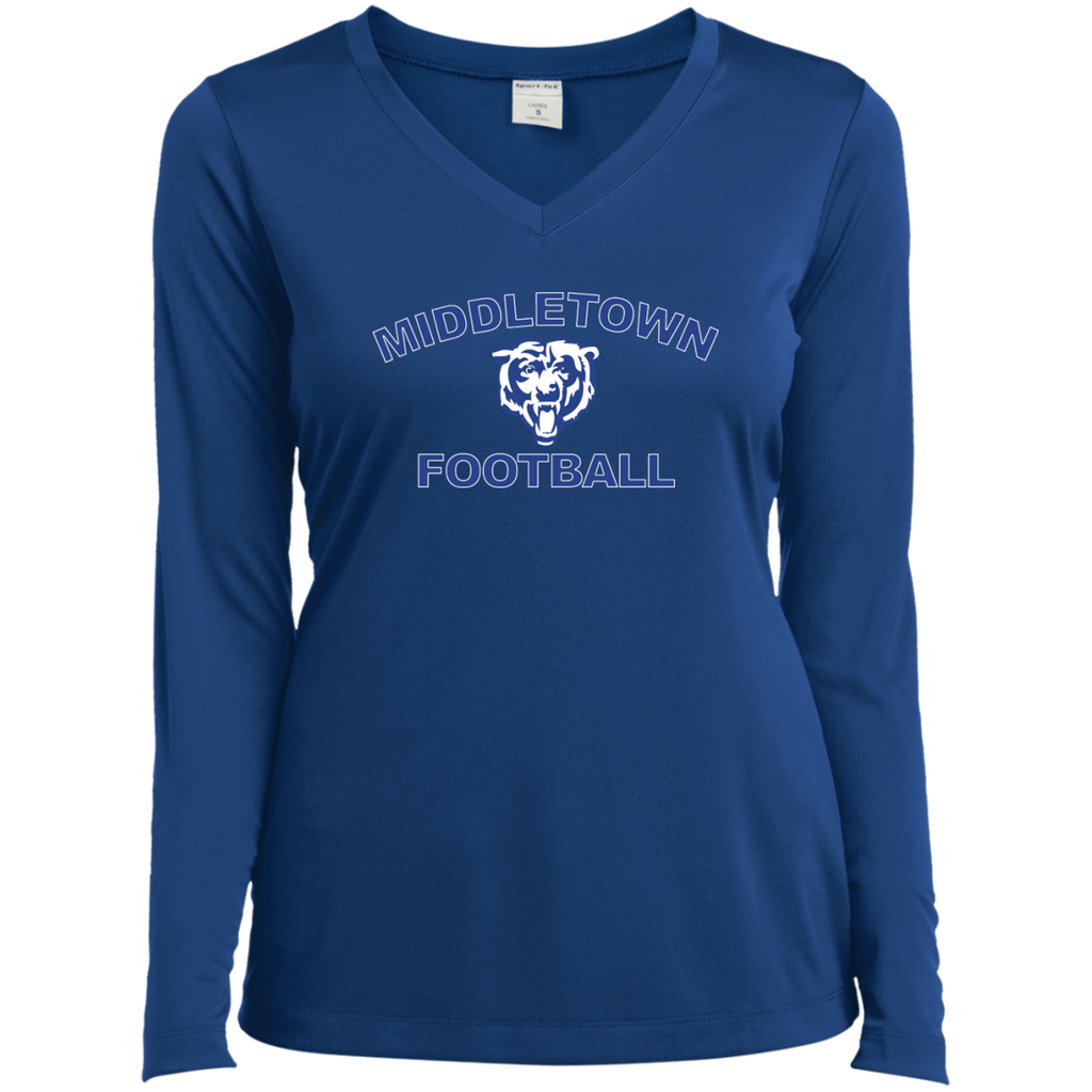 Women's Moisture Wicking Long Sleeve T-Shirt - Middletown Football