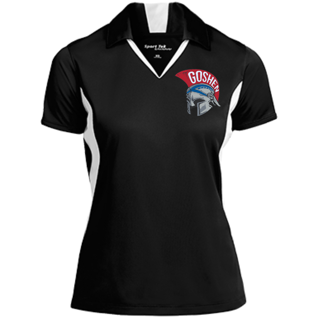 Women's Colorblock Moisture Wicking Polo - Goshen Helmet