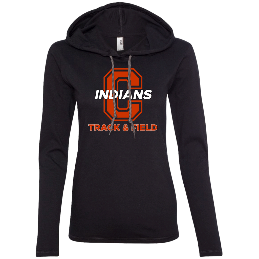 Women's T-Shirt Hoodie - Cambridge Track & Field - C Logo