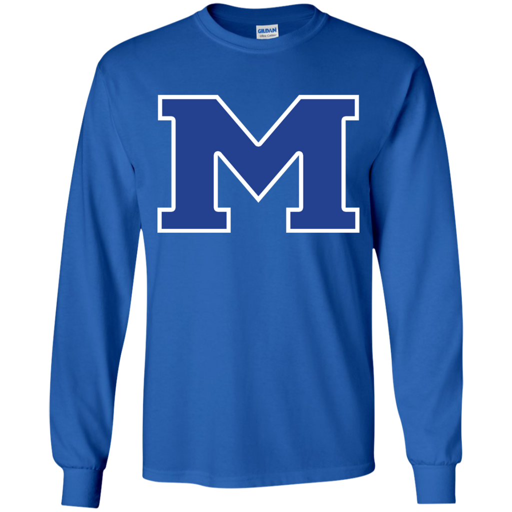 "Youth Long Sleeve T-Shirt - Middletown Block ""M"""