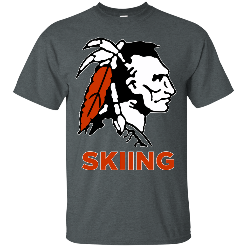 Men's Cotton T-Shirt - Cambridge Skiing - Indian Logo