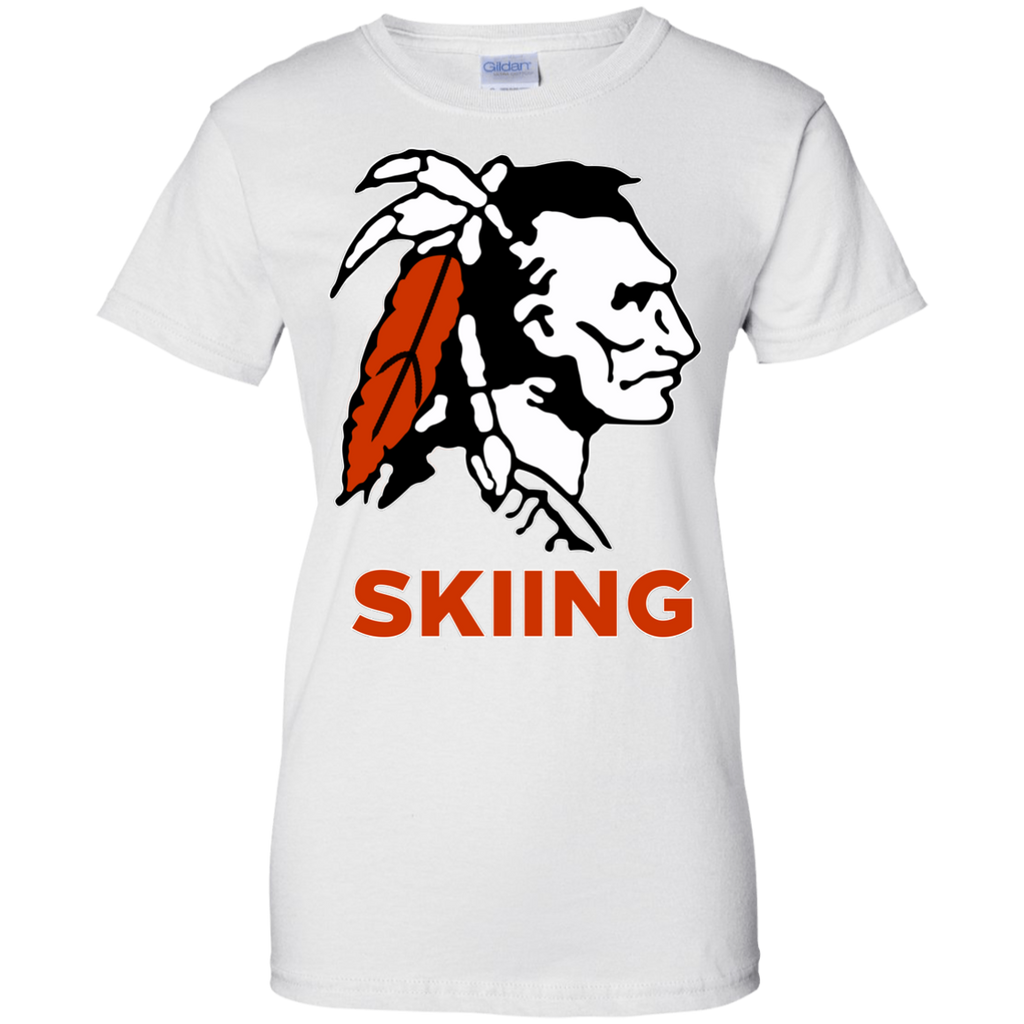 Women's Cotton T-Shirt - Cambridge Skiing - Indian Logo