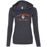 Women's T-Shirt Hoodie - Cambridge Soccer