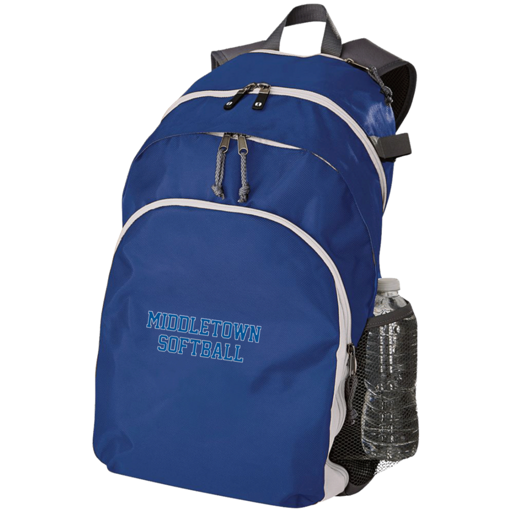 Large Laptop Backpack - Middletown Softball - Block Logo