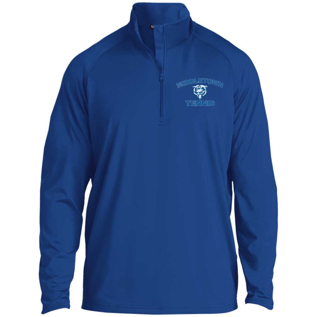 Men's Performance Quarter Zip Sweatshirt - Middletown Tennis - Bear Logo