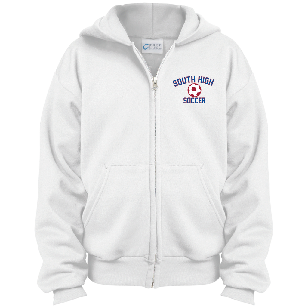 Youth Full-Zip Hooded Sweatshirt - South Glens Falls Soccer
