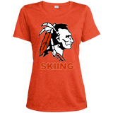 Women's Heather Moisture Wicking T-Shirt - Cambridge Skiing - Indian Logo