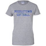Women's Cotton T-Shirt - Middletown Softball - Block Logo