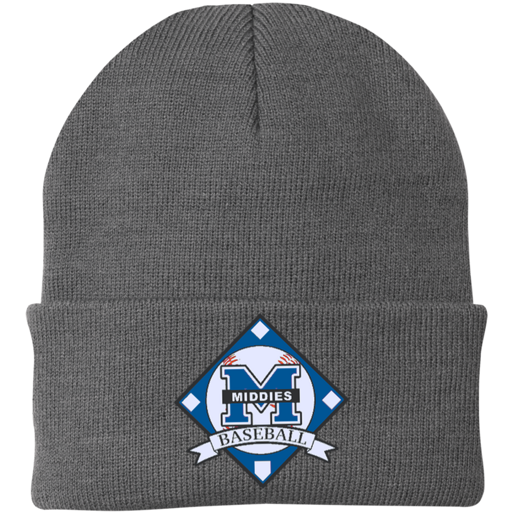 Knit Winter Hat - Middletown Baseball - Diamond Logo