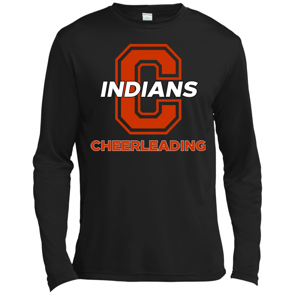Men's Moisture Wicking Long Sleeve T-Shirt - Cambridge Cheerleading - C Logo