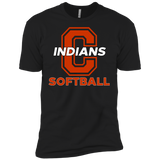 Men's Premium T-Shirt - Cambridge Softball - C Logo