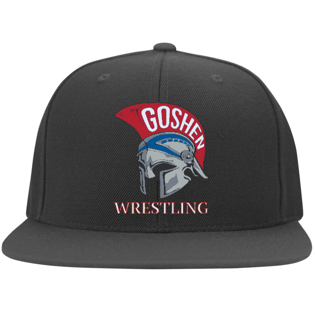 Flex Fit Twill Hat w/ Flat Bill - Goshen Wrestling