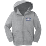 Basketball Vector Logo Outline_Pantone CAR78TZH Precious Cargo Toddler Full Zip Hoodie