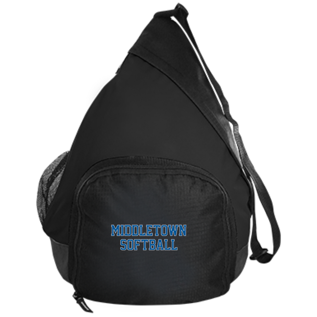 Sling Bag - Middletown Softball - Block Logo