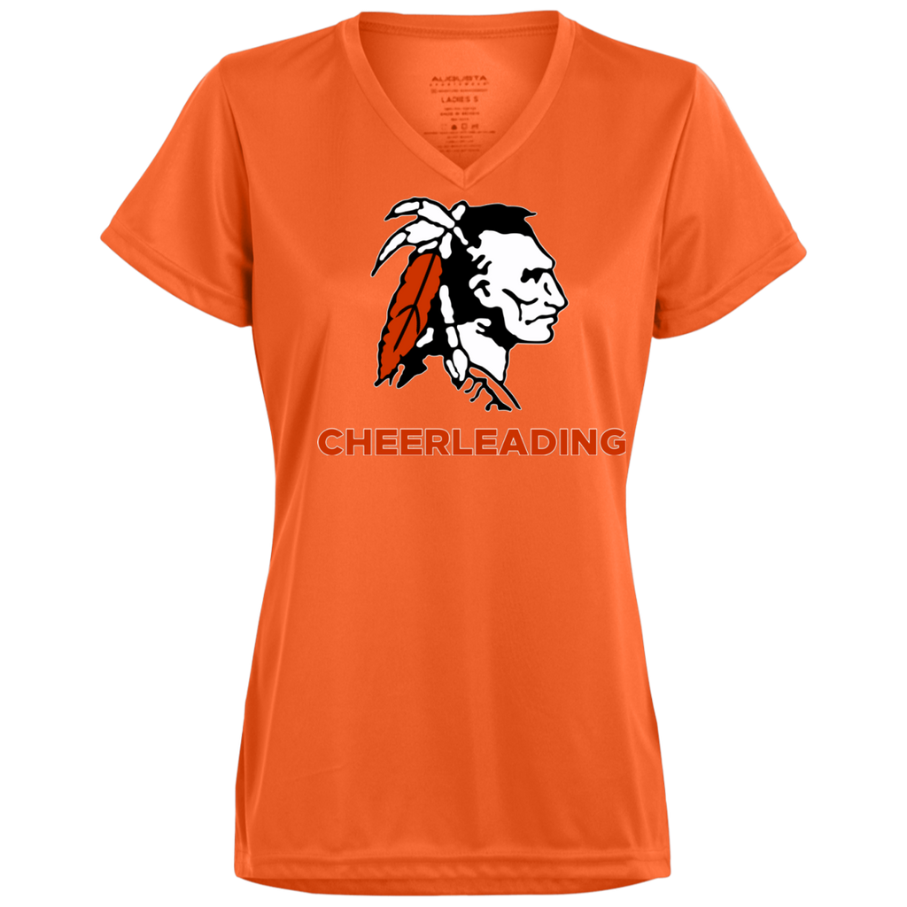 Women's Moisture Wicking T-Shirt - Cambridge Cheerleading - Indian Logo