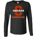Women's Long Sleeve T-Shirt - Cambridge Wrestling - C Logo
