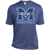 Men's Heather Moisture Wicking T-Shirt - Middletown Girls Basketball