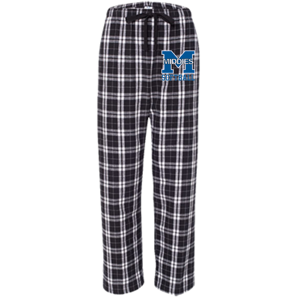 Youth Flannel Pants - Middletown Softball