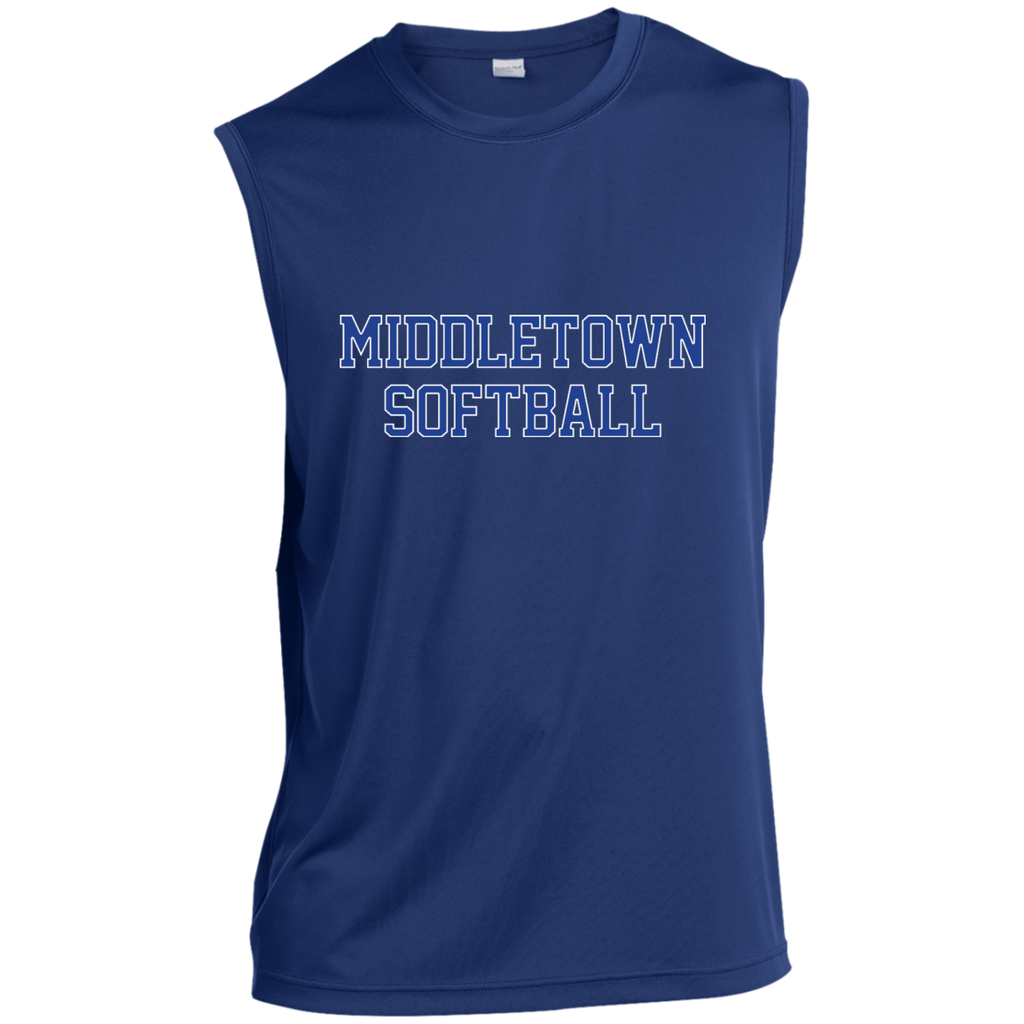 Sleeveless Performance T-Shirt - Middletown Softball - Block Logo