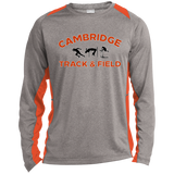 Heather Colorblock Long Sleeve T-Shirt - Cambridge Track & Field