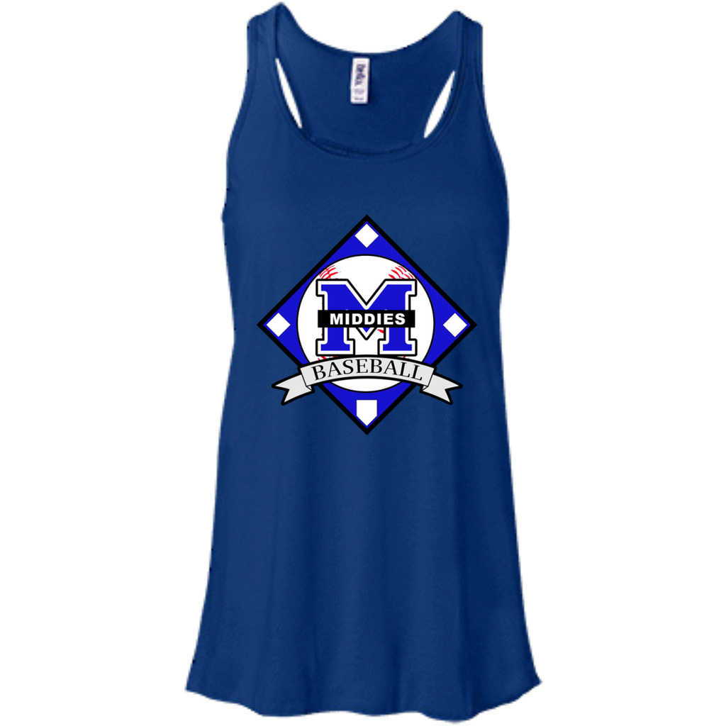 Women's Racerback Tank Top - Middletown Baseball - Diamond Logo
