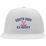 Flex Fit Twill Hat w/ Flat Bill - South Glens Falls Ice Hockey
