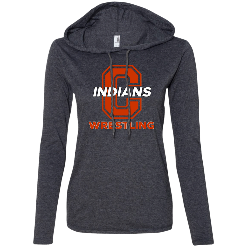 Women's T-Shirt Hoodie - Cambridge Wrestling - C Logo
