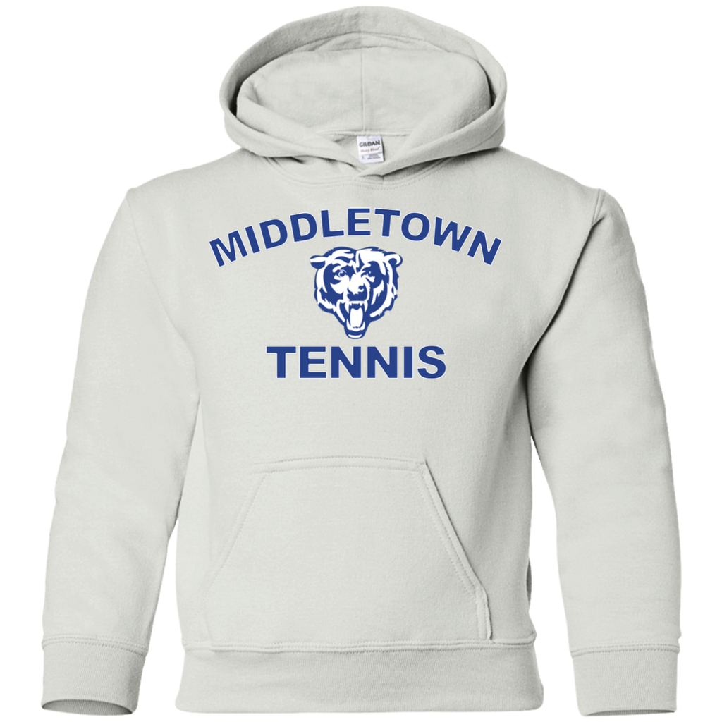 Youth Hooded Sweatshirt - Middletown Tennis - Bear Logo
