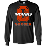 Men's Long Sleeve T-Shirt - Cambridge Soccer - C Logo