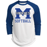 3/4 Sleeve Baseball T-Shirt - Middletown Softball