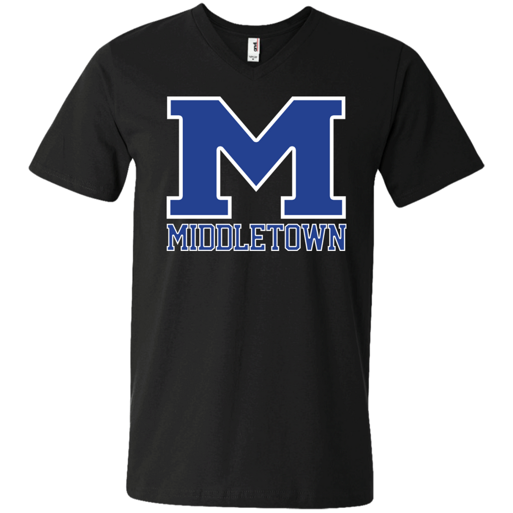 "Men's V-Neck T-Shirt - Middletown ""M"""