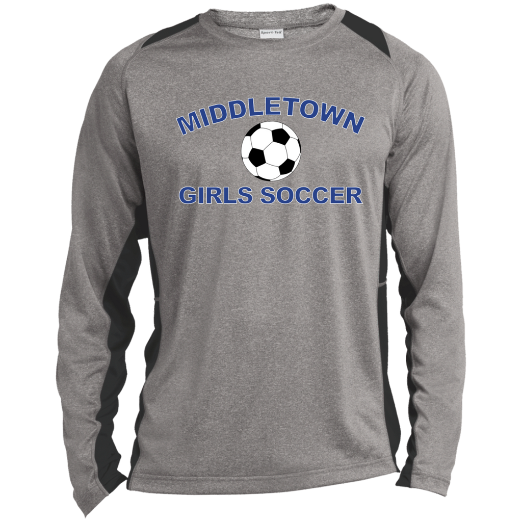 Heather Colorblock Long Sleeve T-Shirt - Middletown Girls Soccer
