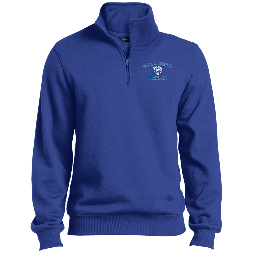 Men's Quarter Zip Sweatshirt - Middletown Tennis - Bear Logo