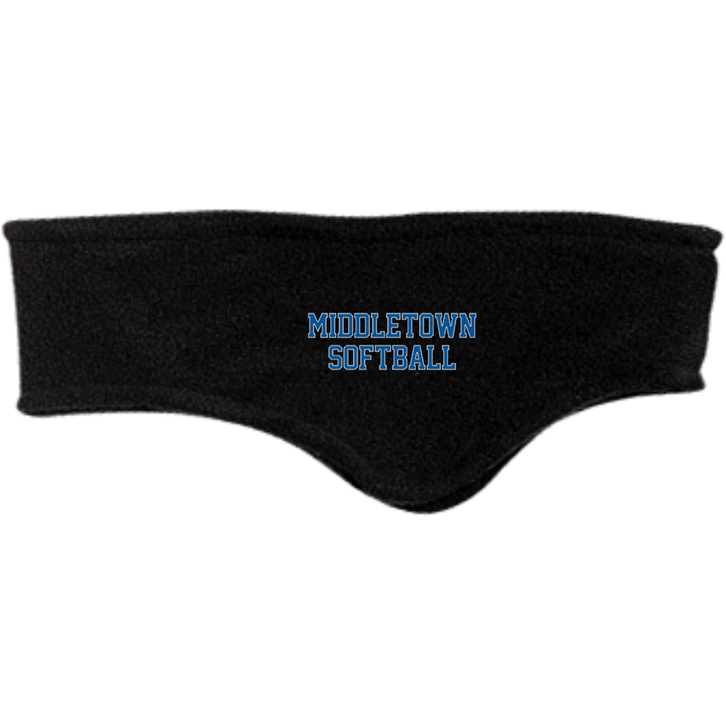 Fleece Headband - Middletown Softball - Block Logo
