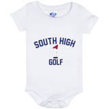 Golf Vector Logo Outine_Pantone Baby Onesie 6 Month