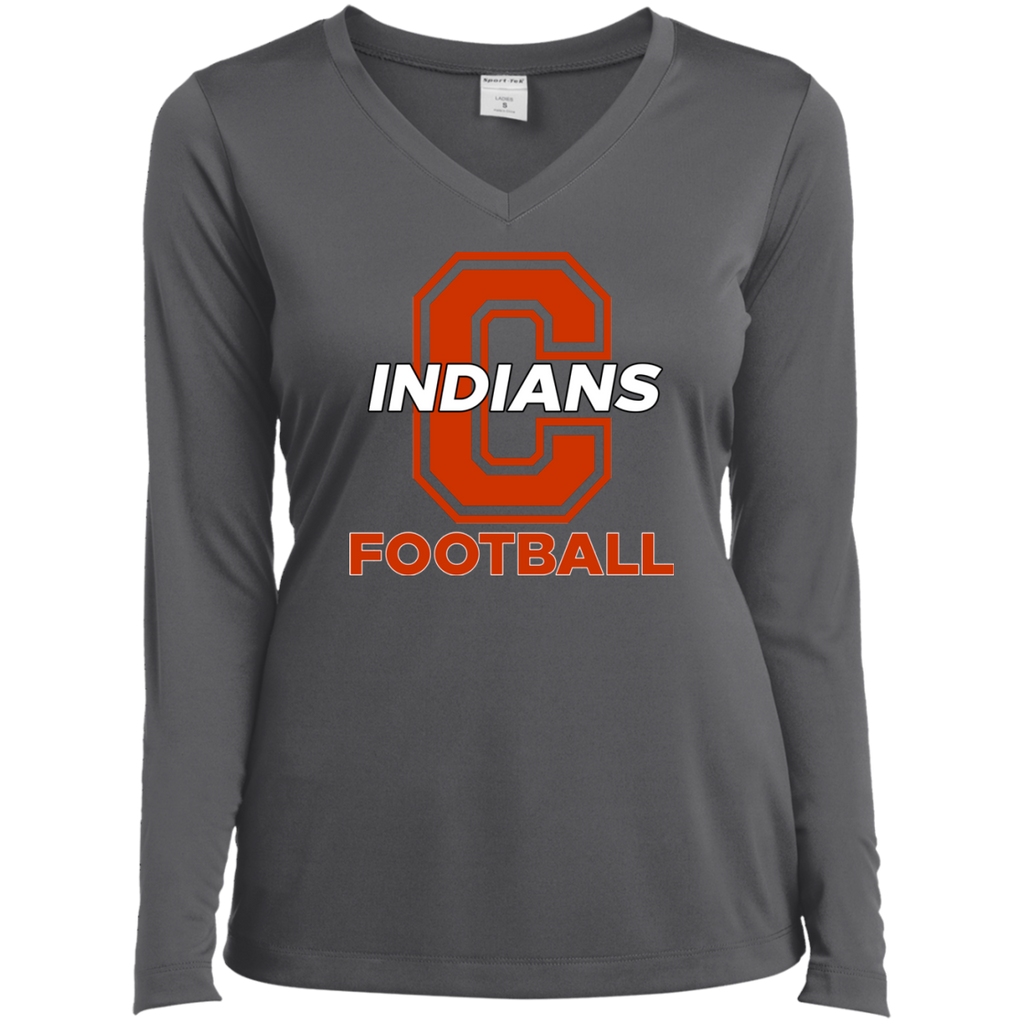 Women's Moisture Wicking Long Sleeve T-Shirt - Cambridge Football - C Logo