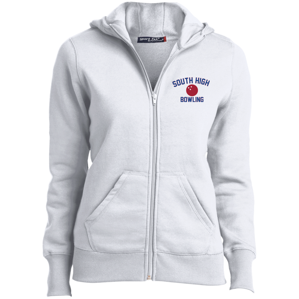Women's Full-Zip Hooded Sweatshirt - South Glens Falls Bowling