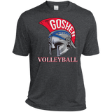 Men's Heather Moisture Wicking T-Shirt - Goshen Volleyball