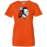 Women's Cotton T-Shirt - Cambridge Basketball - Indian Logo